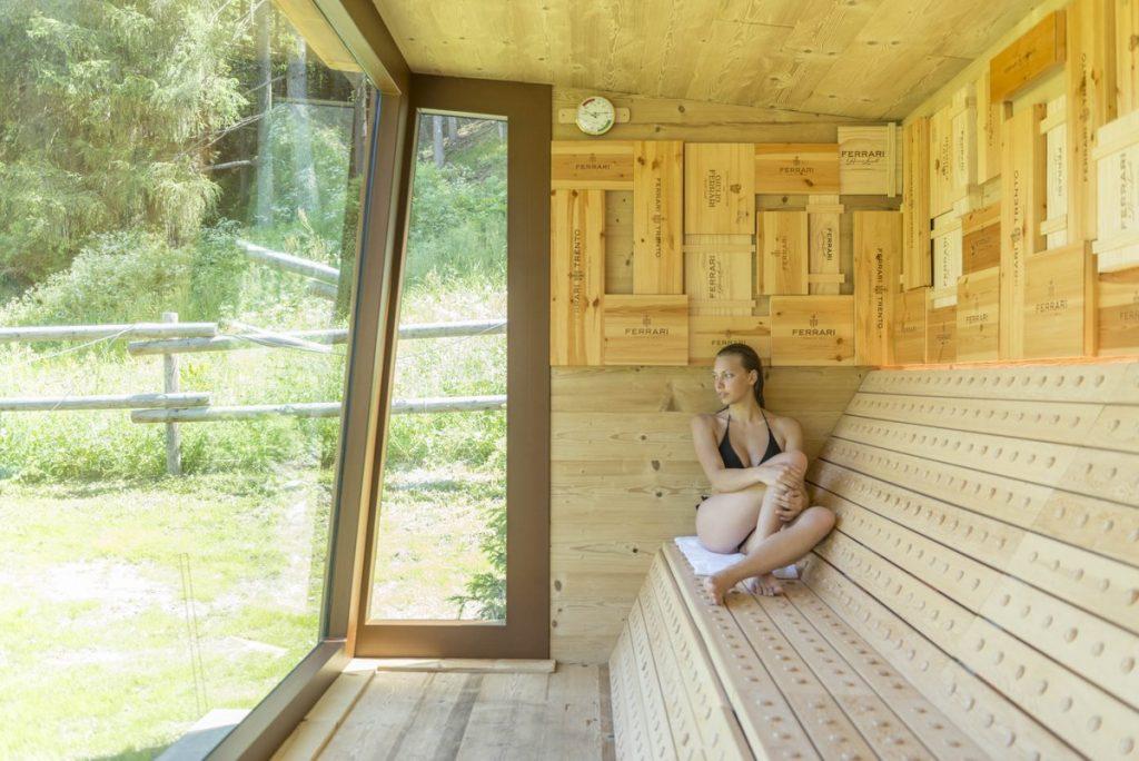 QC Terme Dolomiti: relax e bollicine nella Sauna Perlage, l'unica ispirata ad una cantina